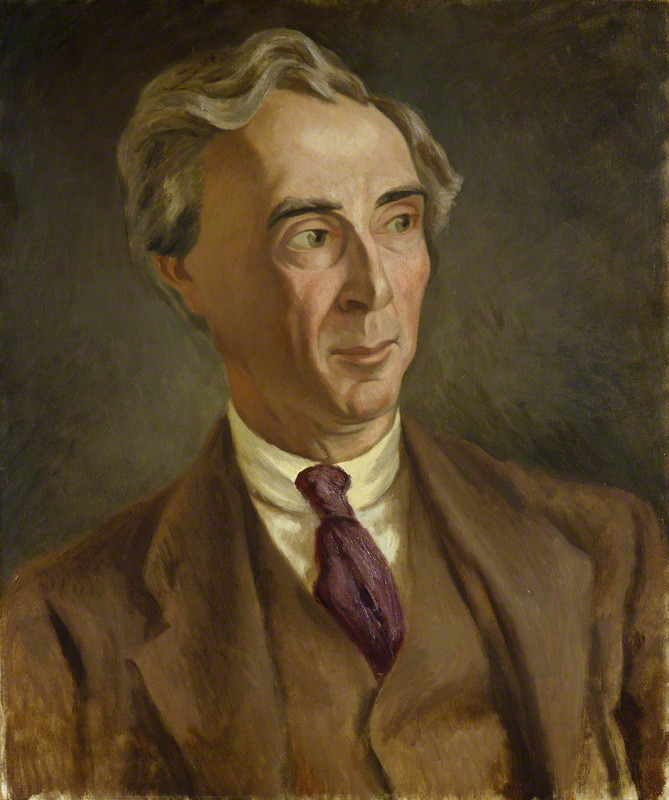NPG 4832; Bertrand Arthur William Russell, 3rd Earl Russell by Roger Fry